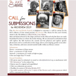 Ake Wants Your Prose, Debola Talks Art, Ubong at the Shrine, Enigo's Paintings at the Park and Teju Cole Comes to Town…