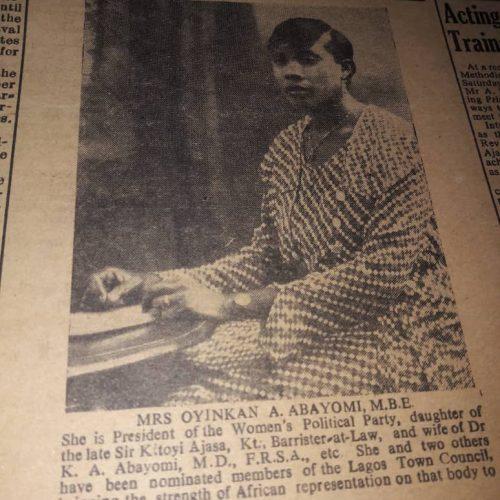 HerStory -Oyinkan Abayomi's Nigerian Women's Political Party